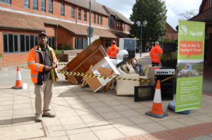 Fly-tipping roadshow at Penny's Walk in Ferndown (Monday 16 April)
