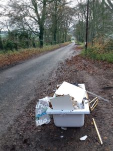 photograph of a rural flytip